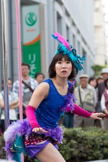 亀戸大道芸 ポールダンス