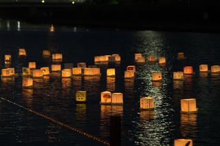 旧中川 灯篭流し